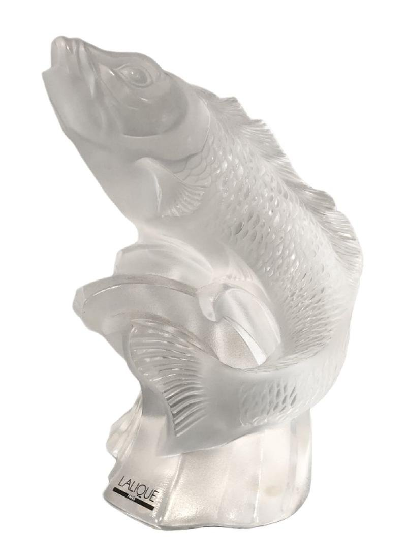Lalique French Crystal Carp Sculpture