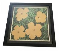 """Andy Warhol """"Flowers"""" Pencil Signed Lithograph"""