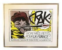 """Roy Lichtenstein """"Crak"""" Pencil Signed Lithograph"""