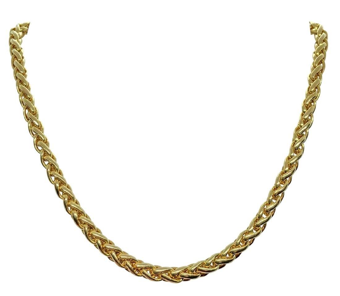 Vintage Cartier 18K Gold Link Foxtail Necklace