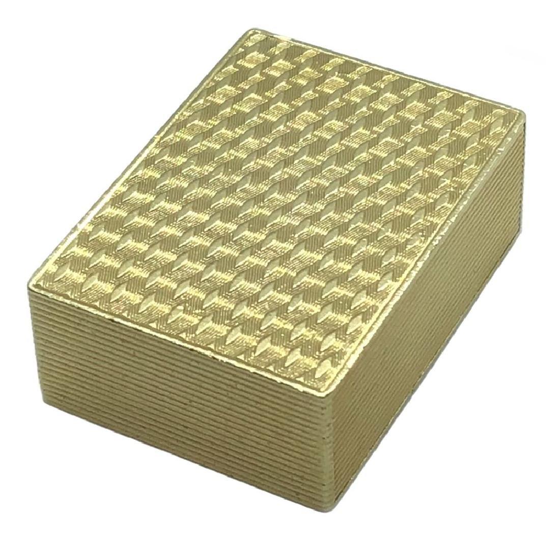 Rare Cartier 18K Deck of Cards Mechanical Pill Box