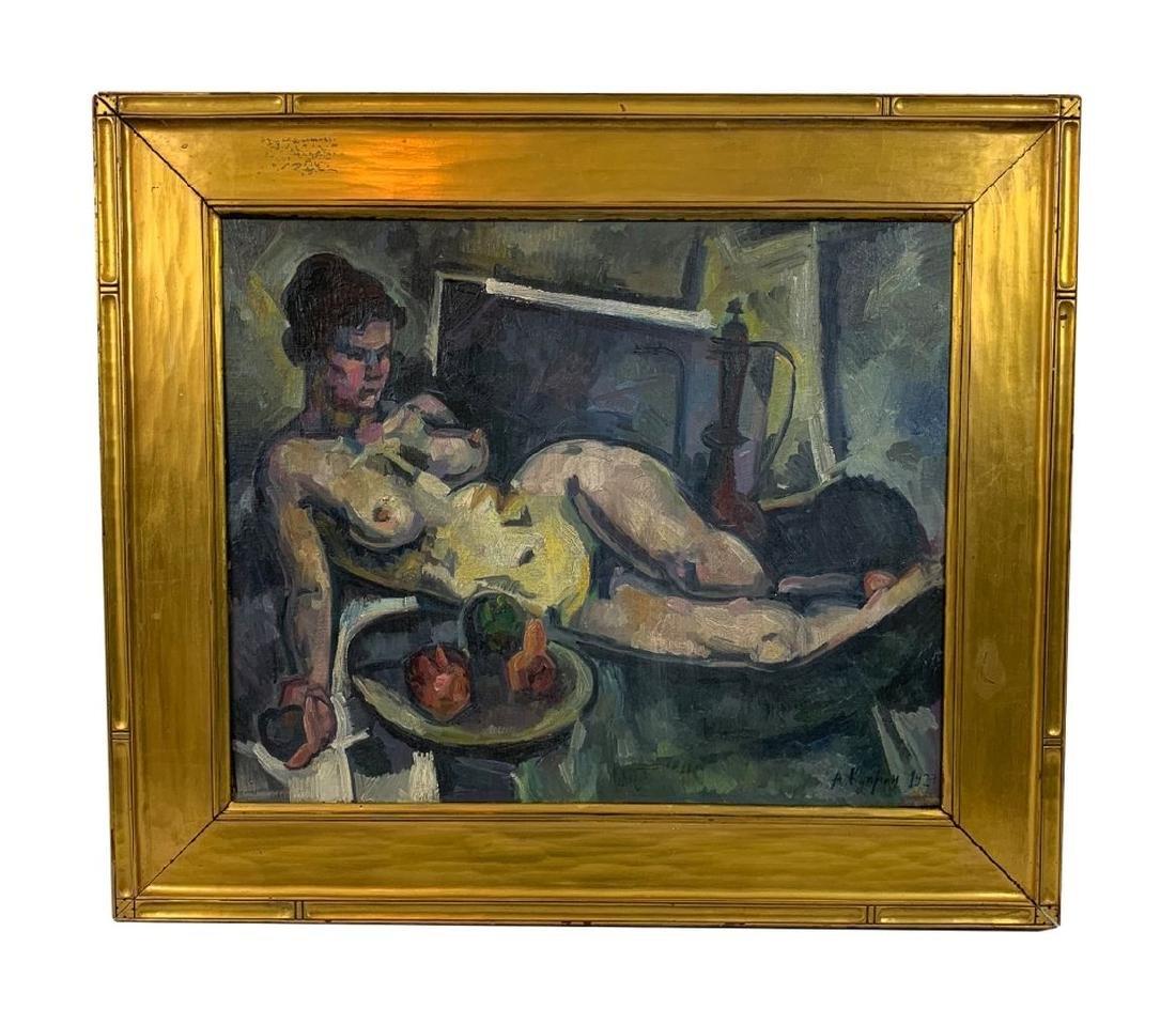 Alexandre V. Kuprin Nude Study Oil Painting
