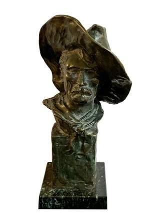 "Frederic Remington ""The Sergeant"" Bronze Sculpture"