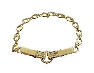 H. Stern 18K Gold & Diamond Link Bracelet