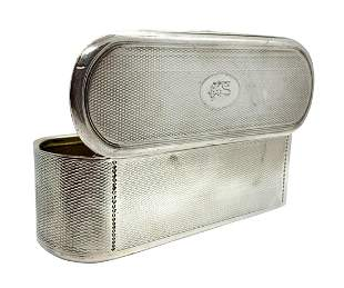 Antique English Sterling Silver Tobacco Box