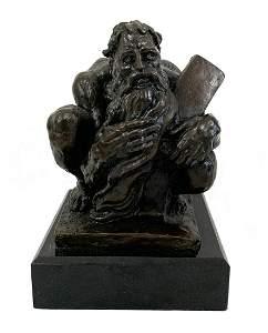 Donald De Lue Ten Commandments Bronze Sculpture