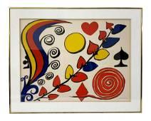 Alexander Calder Pencil Signed Color Lithograph