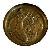 Willi Knapp Leda  The Swan Art Deco Bronze