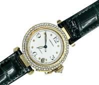 Cartier Pasha 18K Gold  Diamond Watch