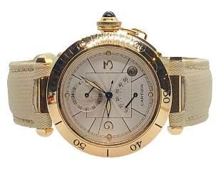 Cartier 18K Gold Pasha Watch
