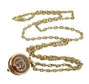 Gucci Clock Pendant Necklace