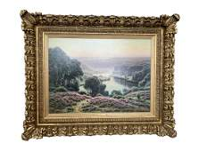 William Didier Pouget Doubs Valley Oil Painting