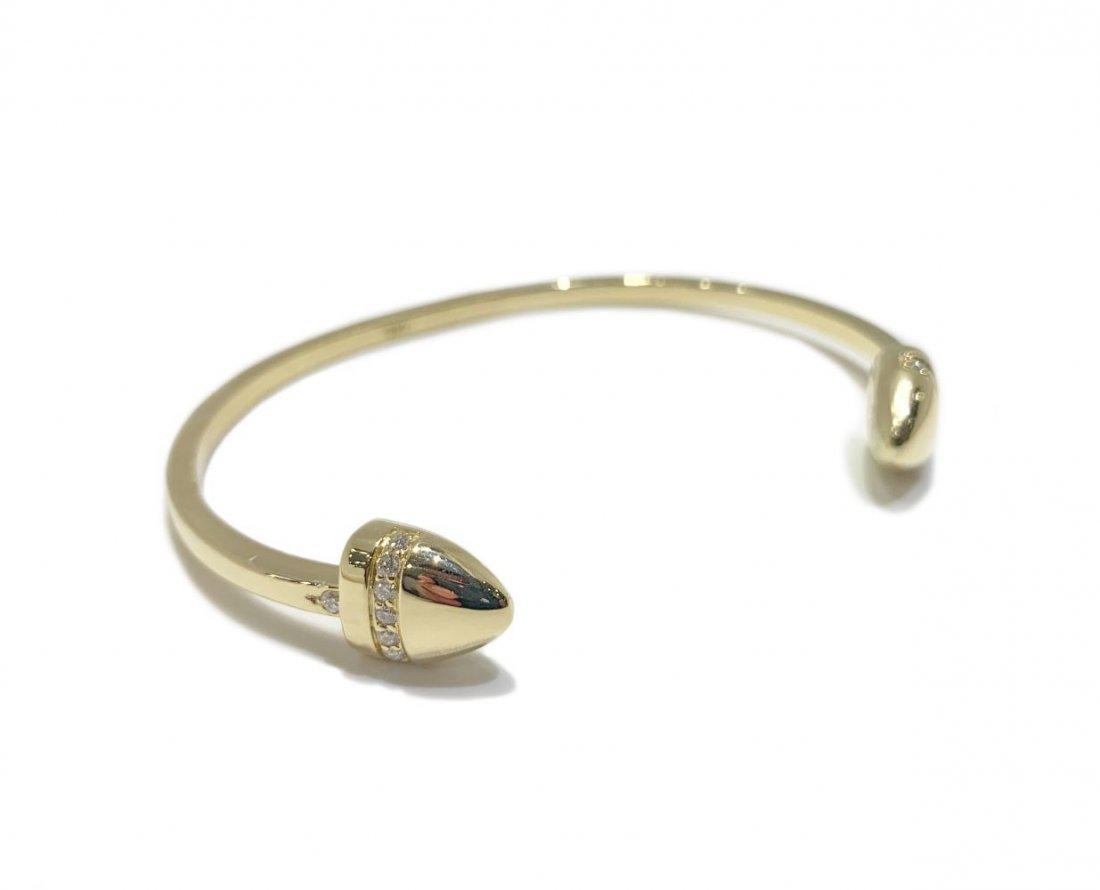 Roberto Coin 18K Gold Diamond Ruby Cuff Bracelet