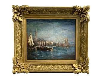 Felix Ziem Seascape Oil Painting on Canvas