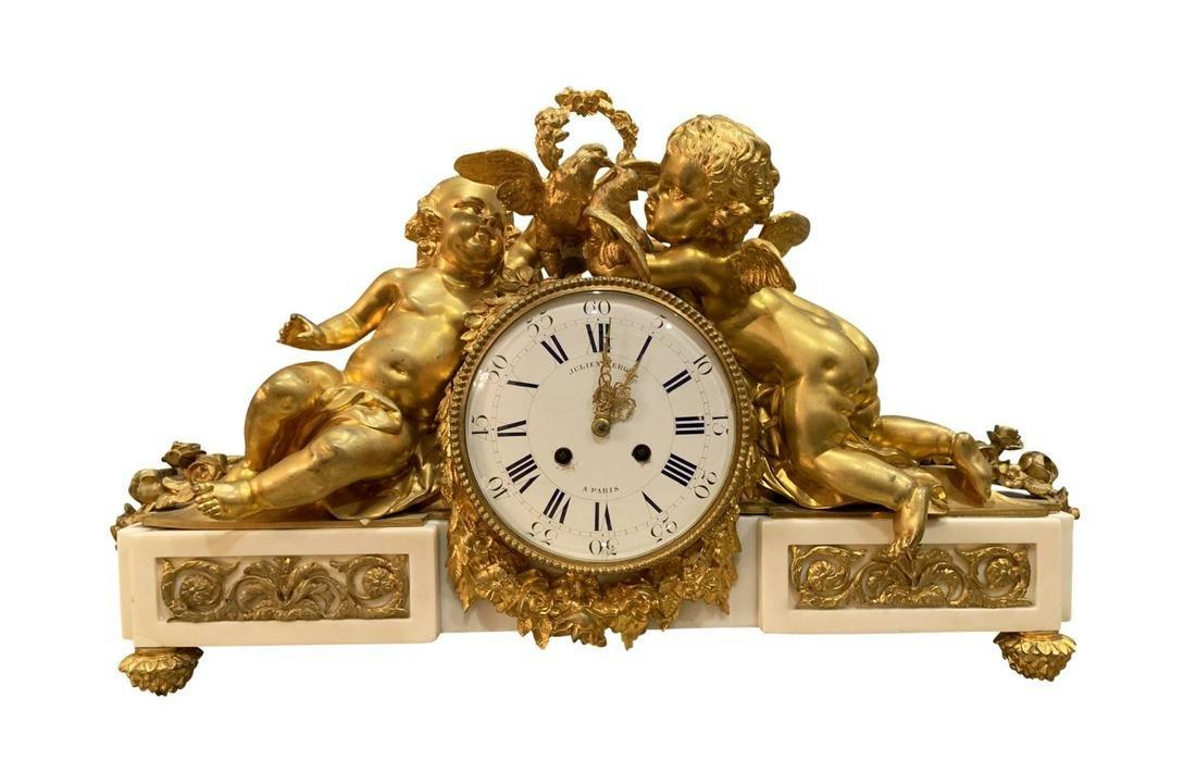 Antique Julien Le Roy Paris French Cherub Clock