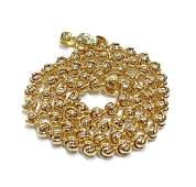 Baraka Italian 18K Gold Beaded Chain Link Necklace