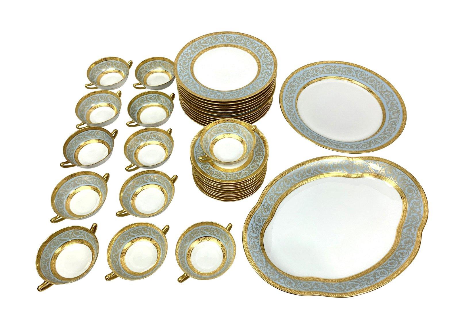 Haviland Limoges Gold Trim China Set