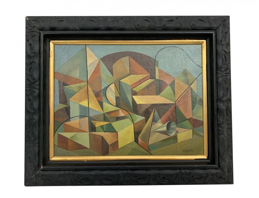 Georges Folmer Geometrical Oil Painting