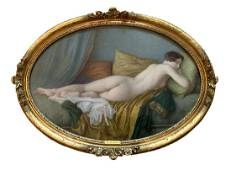 Jules Scalbert French Nude Study Pastel Dawing