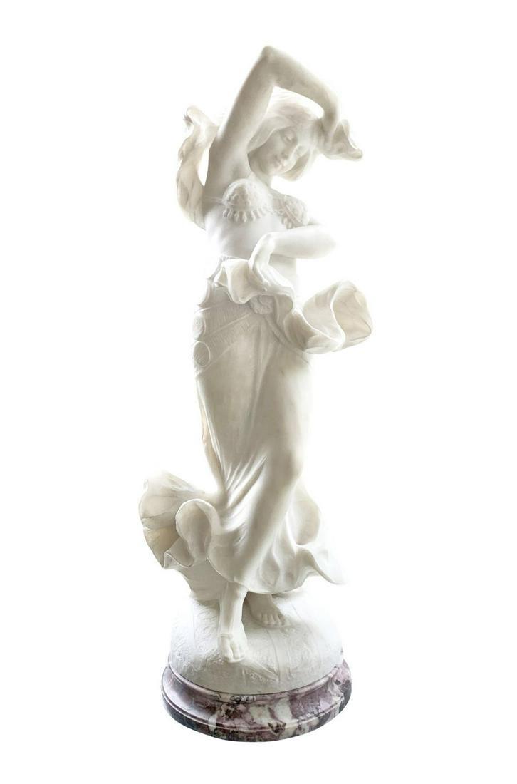 Guglielmo Pugi Marble Art Nouveau Dancer