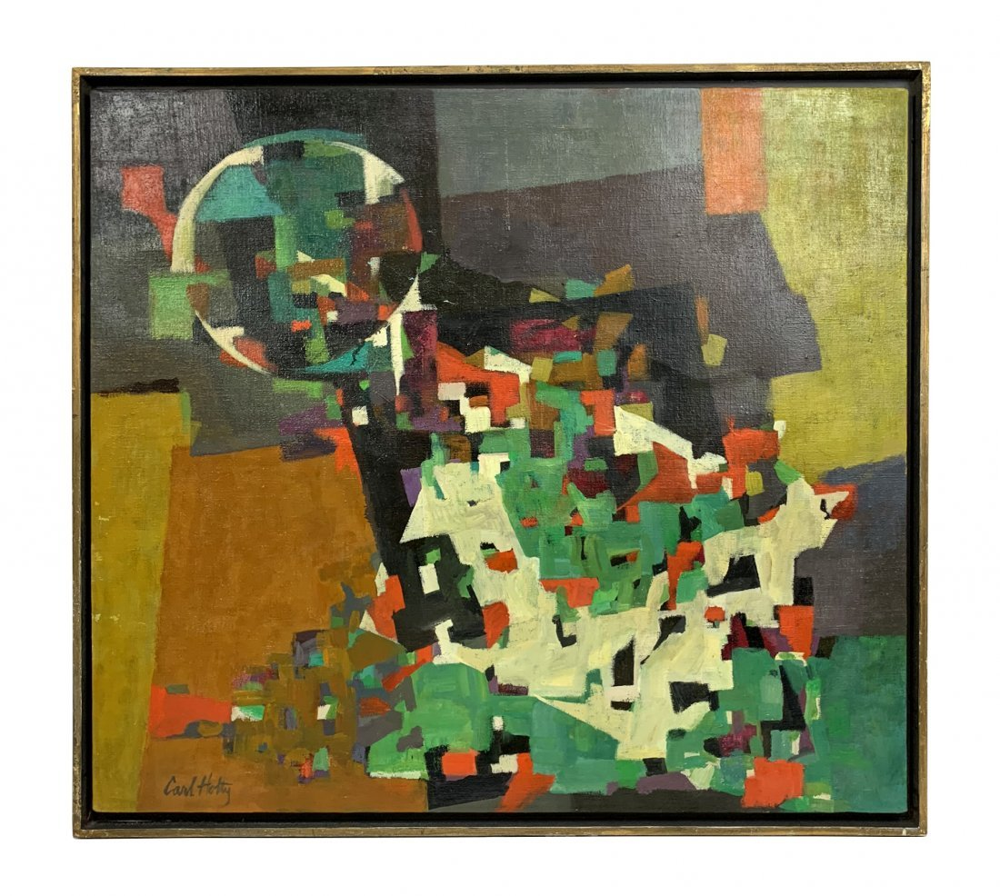 Carl Holty Abstract Geometric Oil Painting