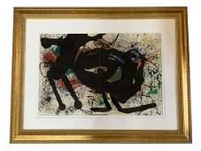 Joan Miro Original Lithograph in Colors