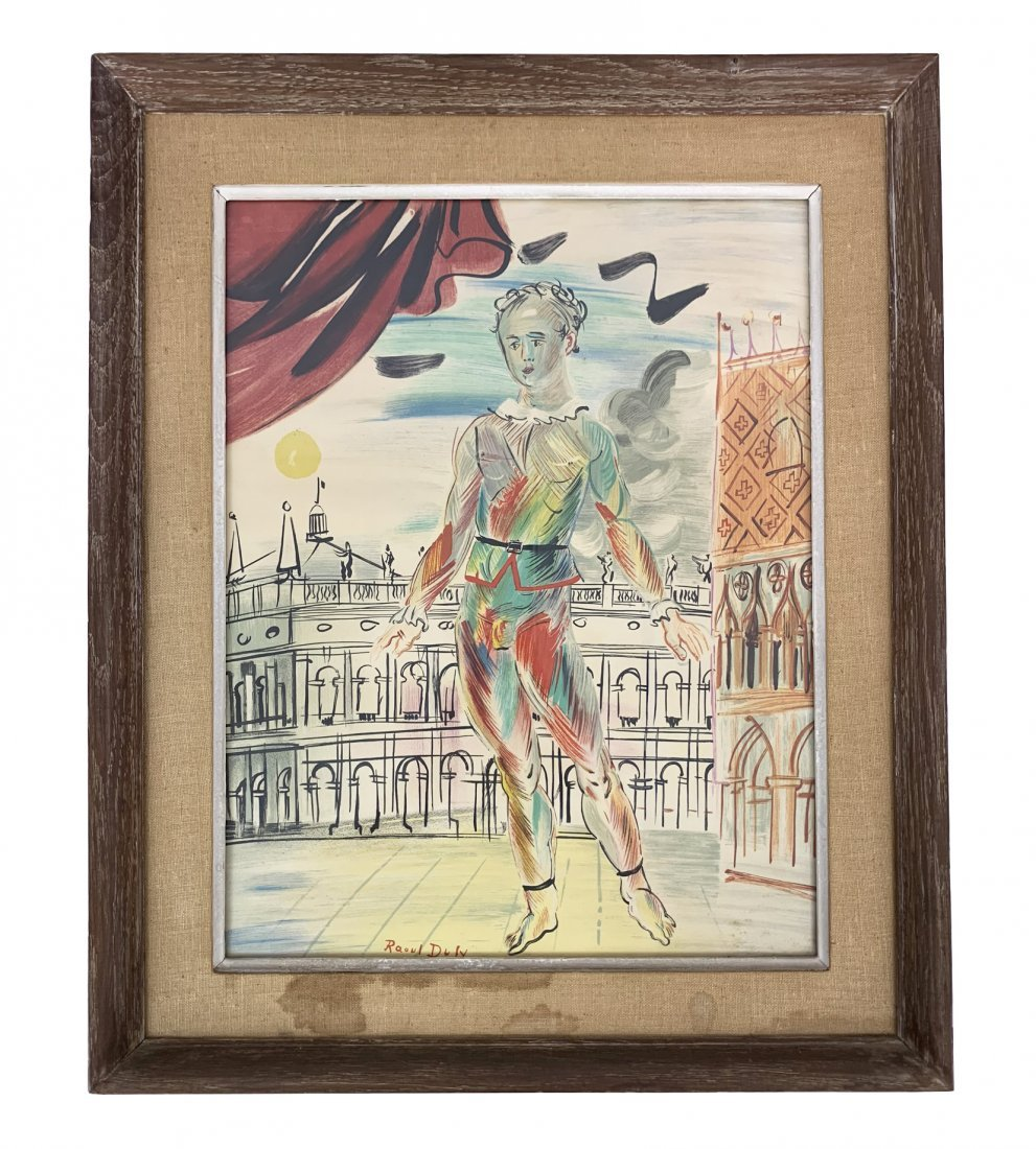 "Raoul Dufy ""The Italian Clown"" Lithograph Print"