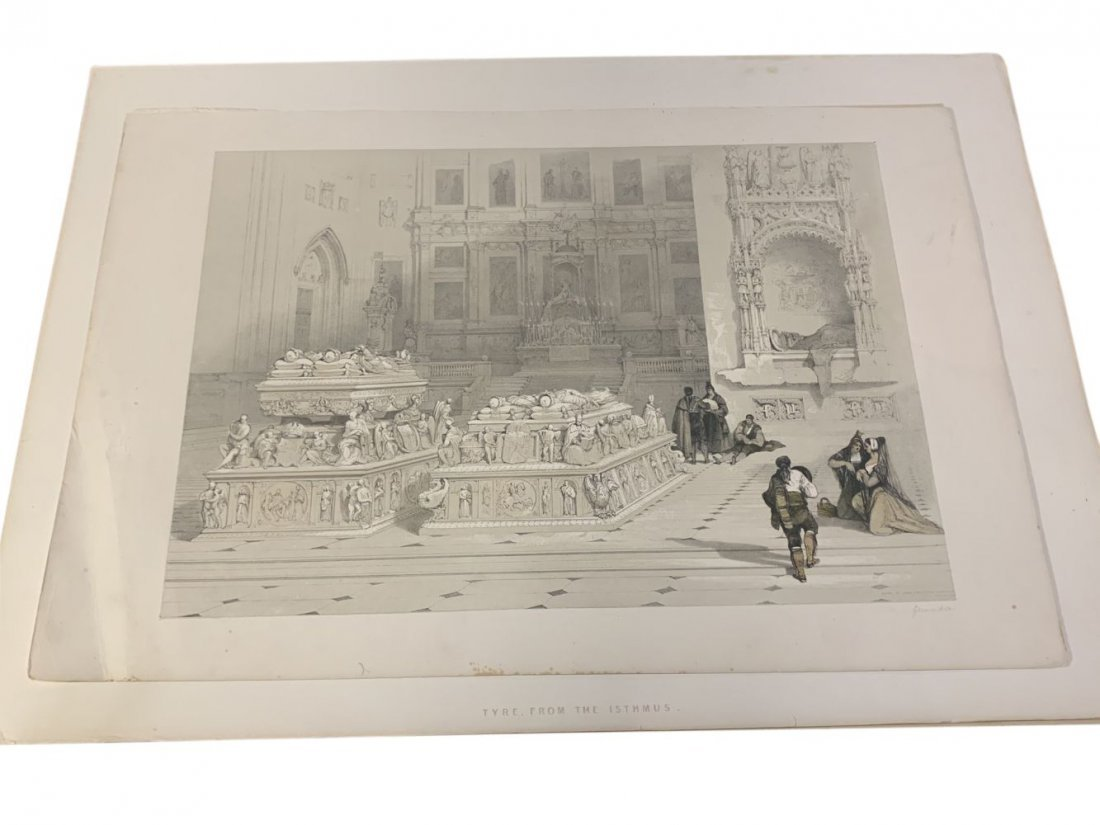 David Roberts Chapel of Ferdinand & Isabella Sketch