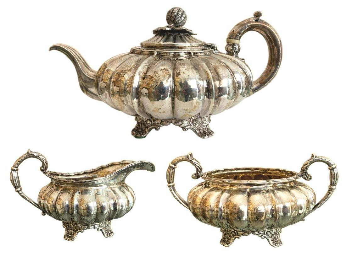 Antique Mary Sumner English 3pc Silver Coffee Set