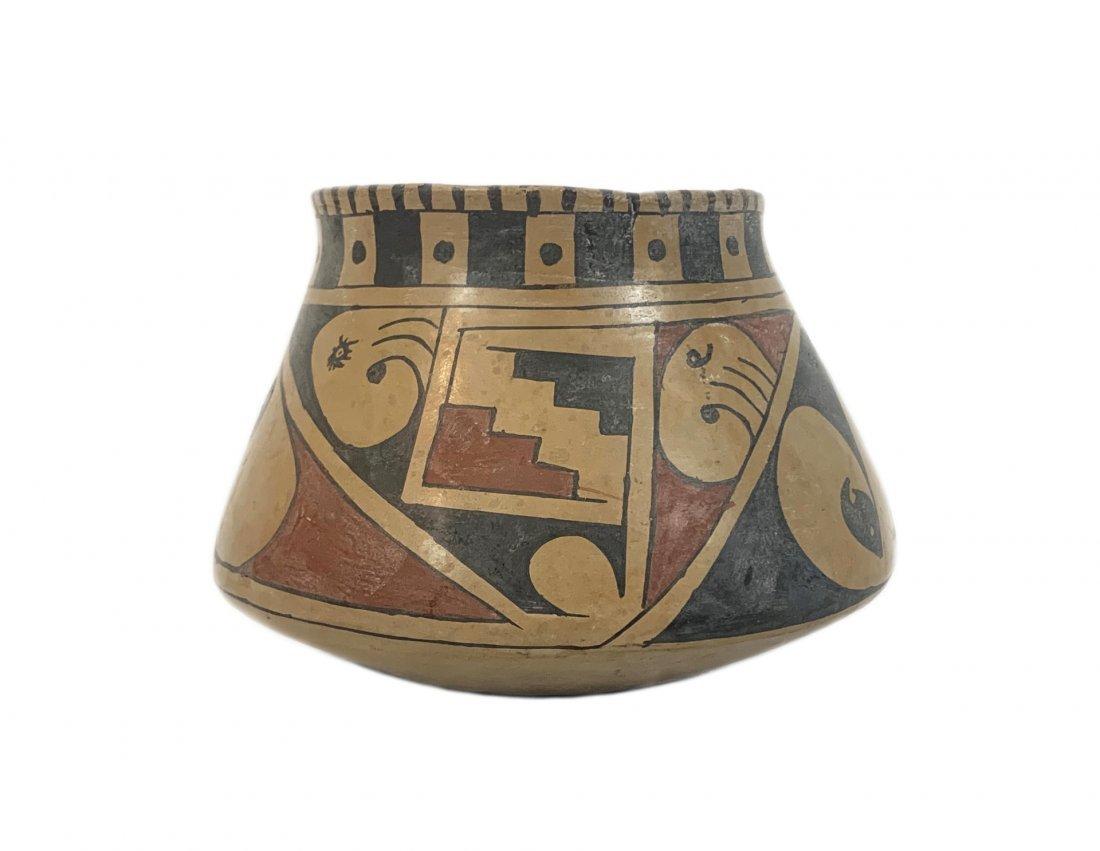 Antique Pueblo Hand Painted Pottery Vase