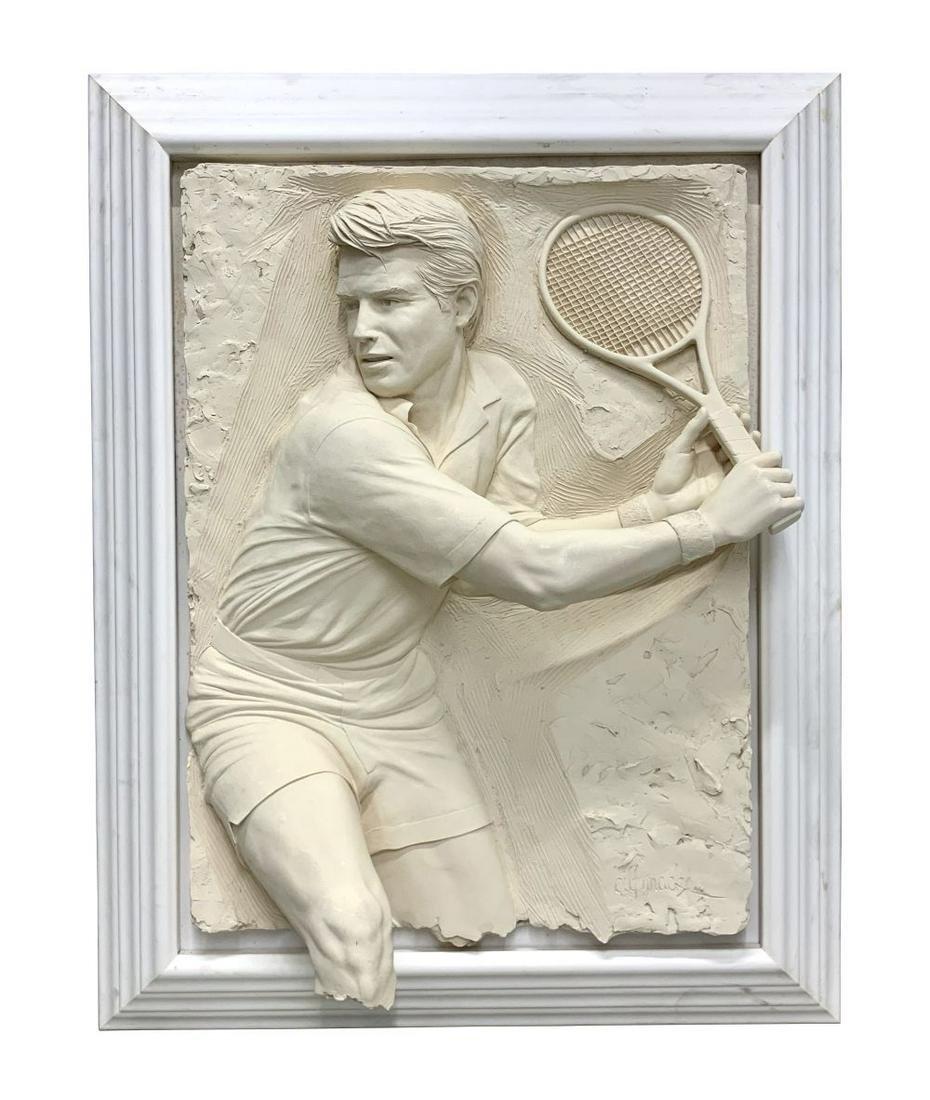 """Bill Mack """"Match Point"""" Sand Relief Sculpture"""