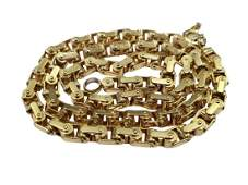 Baraka 18K Articulated 6mm Chain Link Necklace