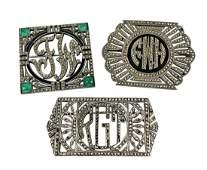 Lot of Designer Sterling Marcasite Deco Pins