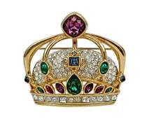 Swarovski Crystal Royal Crown Brooch Pin