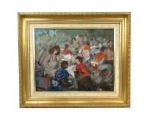 Gregorio Camacho Muchachos Impressionist Oil Painting