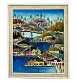 Cemoin Souffrant Haitian Village Oil Painting