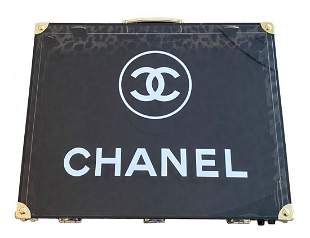 Vintage Chanel Smoky Lucite Goldtone Briefcase