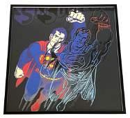 "Andy Warhol ""Superman"" Silkscreen w/ Colors"