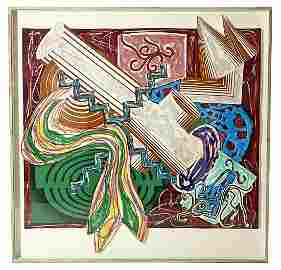 """Frank Stella """"Then Came a Stick & Beat The Dog"""""""
