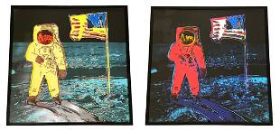 """After Andy Warhol """"Moonwalk, 1987"""" (Two Works)"""