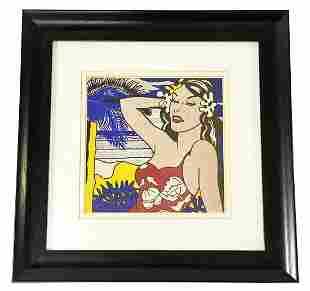 "Roy Lichtenstein ""Aloha, 1970"" Offset Color Lithograph"