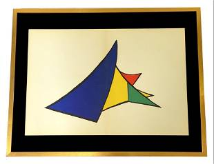 Alexander Calder Mid Century Color Lithograph
