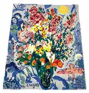 """After Marc Chagall """"Le Bouquet Enluminant Le Ceil"""""""