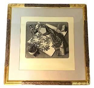 "M.C. Escher ""Reptiles #327"" Lithograph on Paper"