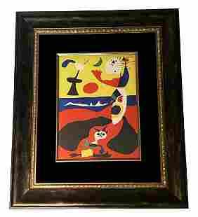 "Joan Miro ""L'Ete"" Pochoir Lithograph In Colours"