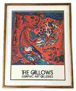 """March Chagall """"The Gallows"""" Graphic Art Galleries"""