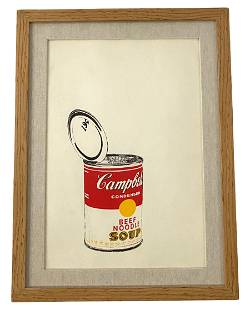 After Andy Warhol's Campbell's Soup Can Lithograph