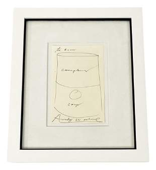 Andy Warhol Index Book Drawing of a Soup Can