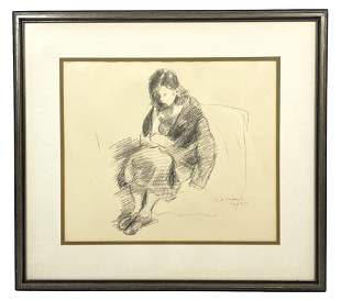 Raphael Soyer Untitled Lithograph on Paper