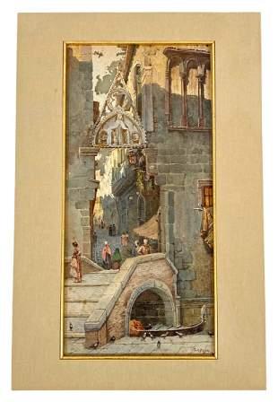 Julius Zielke Watercolor Painting on Paper